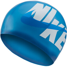 Nike Swim Logo Bonnet de bain en silicone, deep royal blue